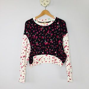 Joie floral print Caleigh drop shoulder sweatshirt